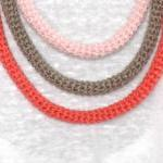 Orbits, crochet bib necklac..